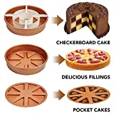 LALICORP 3 Pcs Checkerboard Cake Mold Non-Stick Baking Pan Tin Divider Set Stainless steel DIY Bakeware 24cm Cake Pan