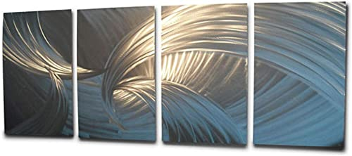Miles Shay Tempest Metal Wall Art, Modern Home Decor, Abstract Wall Sculpture Contemporary