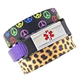 3 Pack Kid's Medical Alert Bracelets | Children's Medical ID Bracelets | Free Engraving | Adjustable | Value Pack (3 Bracelets)