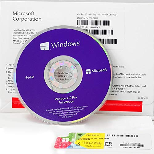 Windows 10 PRO DVD OEM English 64 bit-Best Price (Windows 10 Best Price)