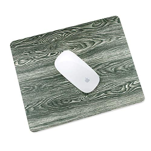 - Masino Premium PU Leather Mouse Pad Waterproof Non-Slip Desk Mice Mat for Apple Magic Mouse Microsoft Surface Mouse, Laptop Wired/Wireless Bluetooth Mouse (1 pcs, Wood Wave- Grey)