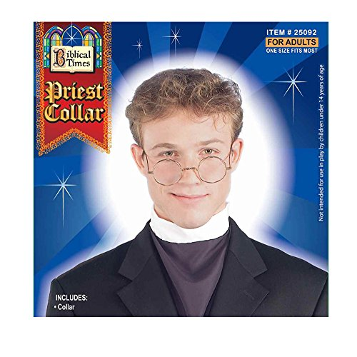 The Priest Movie Costume (Catholic Priest Clergy Collar Costume Accessory)