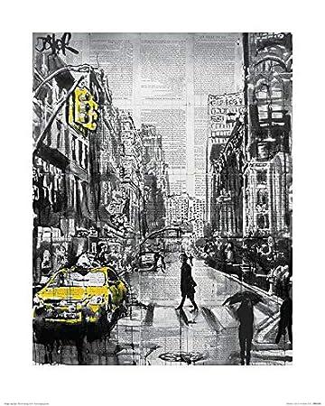 Amazon.com: iPosters Loui Jover Brooklyn Cab Matt Coated Art ...