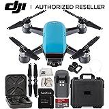 DJI Spark Portable Mini Drone Quadcopter Water Proof Hard Case Starter Bundle (Sky Blue)