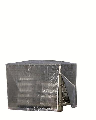 Rain Exo RX120-GIB-R/T Gitterbox-Abdeckhaube 125 x 85 x 98 cm, 120 g/m² mit Reißverschluss, transparent