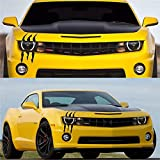 KND Claw Marks Decals Car Monster Stickers Scratch Stripe for Cars Funny Scratch Headlight Decal Reflective Sticker for Car headlamp