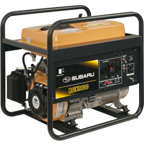 Subaru RGX3600 7.0 HP Gas Powered Industrial Generator, 3600W