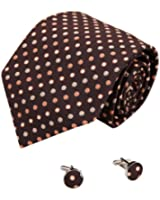 YAB2D01 Fashion Multicolored Polka Dots Series Gift Silk Ties Set 2PT By Y&G