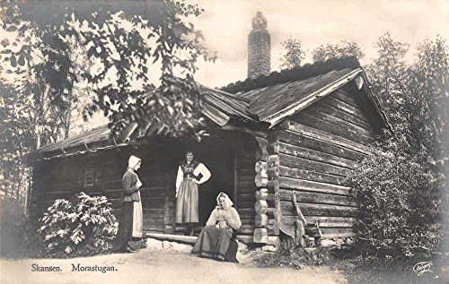 Stockholm Sweden Skansen Morastugan Real Photo Antique Postcard J74407 (Sweden Photo Real)