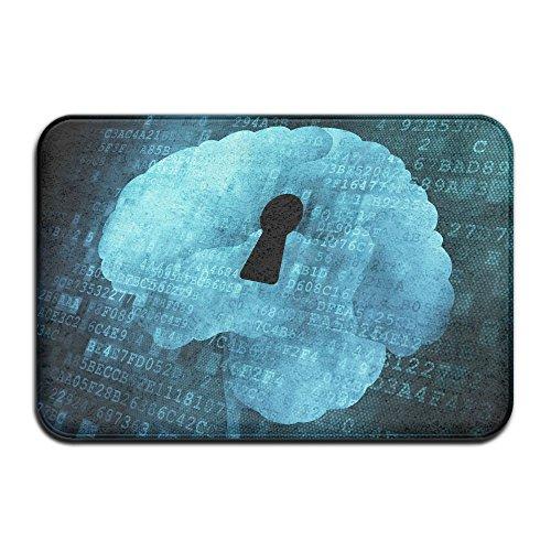 Homlife Rectangle Thin Doormats Brain Psychology Mind Art Entrance Mat Non-Slip Indoor Outdoor Area Rug Bathroom Mats Coral Fleece Home Decor by Homlife