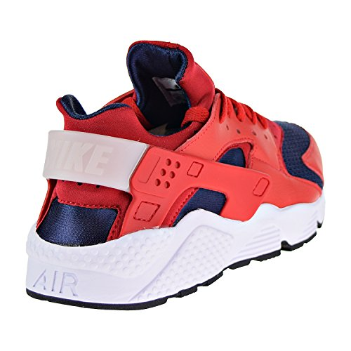 White Mens Nike Trainers Textile Red Leather Huarache Air C6qwq8xSz