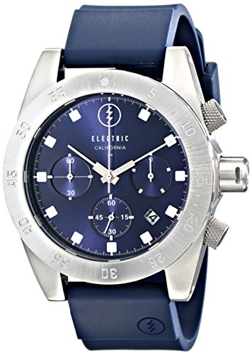 Electric Men's EW0030030011 DW01 Stainless Steel Watch with Navy Rubber - Hand Men Second For Sunglasses