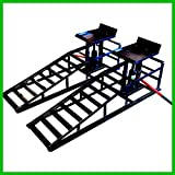Portable Hydraulic Vehicle Pair Ramps 10,000LBS Capacity Heavy Duty Lift...