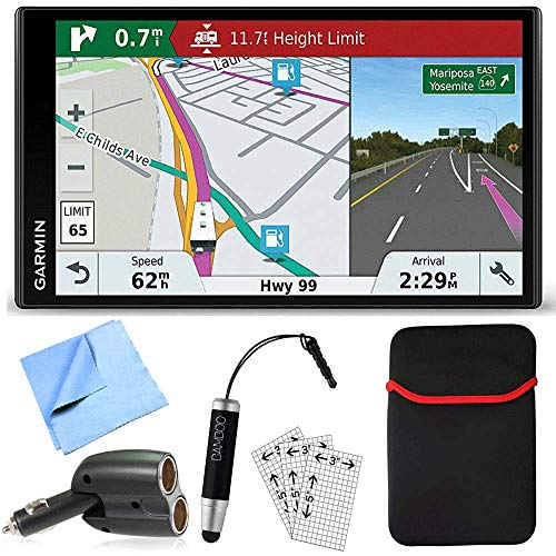 Garmin Rv 770 Na Lmt S Rv Dedicated Gps Navigator Essential Camping Accessory Bundle Includes Car Charger Cleaning Cloth Screen Protectors Hardshell Case And Bamboo Stylus Mini