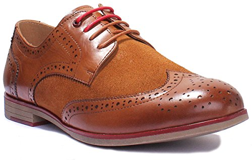 Leather Reece Brown Justin Brogue Lace up 4 Suede Melody UK Women tSdBxpBq
