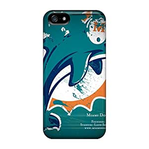 Anti-Scratch Cell-phone Hard Cover For Iphone 5/5s (AFw1191zWAP) Customized Vivid Miami Dolphins Pictures