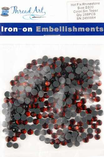 SS20 (5mm) Smoked Topaz Hot Fix Rhinestones 2 Gross (288 stones/pkg) Hotfix Rhinestones - 32 Colors and 4 sizes (Topaz Purse)