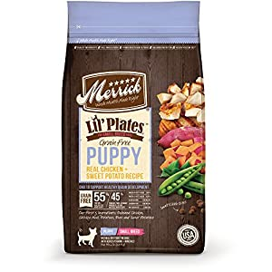 Merrick Lil' Plates Grain Free Real Chicken + Sweet Potato Small Breed Dry Puppy Food, 12Lbs.