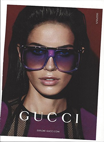 MAGAZINE PAPER ADVERTISEMENT With Amanda Wellish For 2014 Gucci - 2014 Gucci Glasses