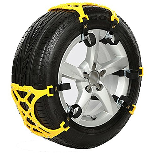 FMtoppeak Universal Thickening Car Tire Snow Chains Adjustable Anti-skid Chains Safety chains double snap skid wheel chains for Jeep Renegade Wrangler Grand Cherokee 6pcs/set