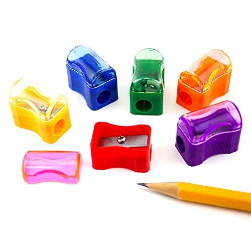 Bulk Plastic Pencil Sharpener Assortment (72 Pack) (5, 72 Pack)