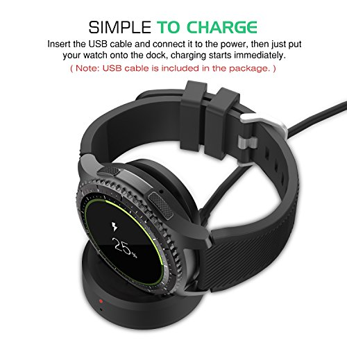 MoKo Gear S3 Charger, Replacement Charging Cradle Wireless ...