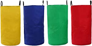 LIOOBO 4 Pcs Oxford Cloth Sack Race Bags Outdoor Colorful Practical Sack Race Pouch Sack Race Bags with Handle for Game Storage