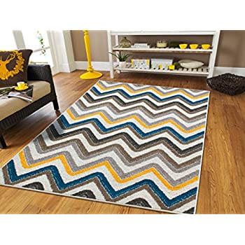 Amazon Com Luxury Small Rugs For Bedroom Blue Area Rugs