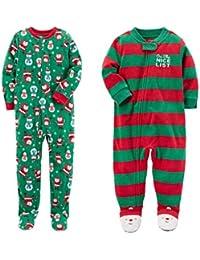 Carter's Baby Toddler Boy's 2 Pack Fleece Footed Pajama Sleep and Play Set