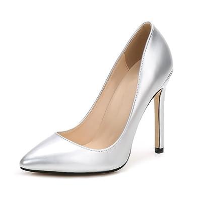 85a234454ec OCHENTA Women Sexy Pumps PU Closed Toe High Heel Shoes