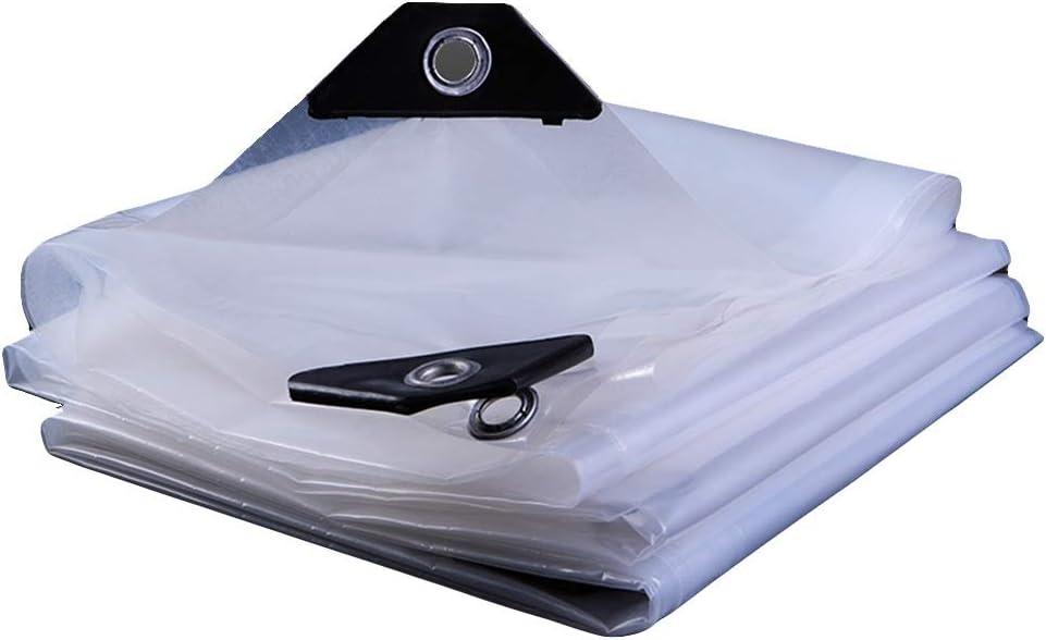 Klar QIANGDA Abdeckplane Size : 1x1m Schutzplane Schutzfolie wasserdichte Plane Mit /Ösen Leicht Ungiftig Transparent for Den Au/ßenbereich