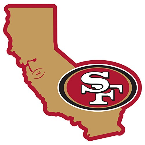 NFL San Francisco 49ers Unisex Siskiyouhome State 11' Magnet, Red