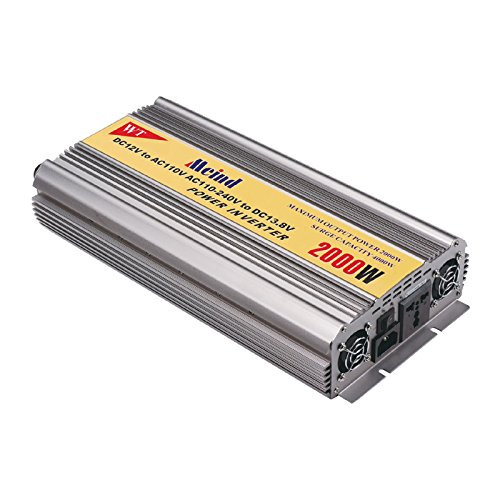 Price comparison product image Meind Modified Sine Wave Power Inverter 2000W DC 12V to AC 220V with Battery Charge Function for Solar Power System or Home Use