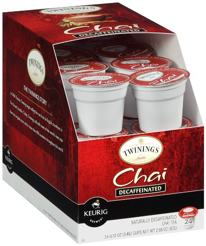 Twinings of London Decaffeinated Chai Tea K-Cups for Keurig, 24 Count (Pack of 4)