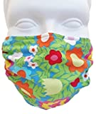 Floral Medallions Face Mask 2-Pack Antimicrobial - Dust/Allergy Mask, Flu Mask, Seasonal Allergies