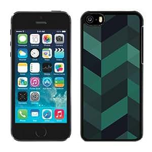 Beautiful Custom Designed Cover Case For iPhone 5C With Dark Green Geometrix Phone Case
