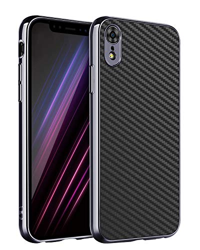 BENTOBEN Case for iPhone XR, Slim Lightweight iPhone XR Case, Stylish Rugged Shockproof Impact Resistant Anti-Scratch Carbon Fiber Texture Protective Phone Cover for Apple iPhone XR 6.1''- Black