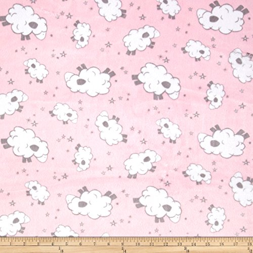 Shannon Fabrics Minky Cuddle Baaa Fabric by the Yard, ()