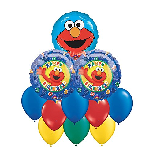 Sesame Street Elmo Happy Birthday Balloon Bouquet 11pc ()