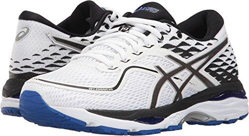 ASICS Womens Gel-Cumulus 19 Running Shoe, White/Black/Blue Purple, 10.5 Medium US