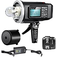 Neewer 600W GN87 HSS Outdoor Flash Strobe Light for Sony MI Shoe Camera,with 2.4G Wireless Trigger,8700mAh Battery to Provide 500 Full Power Flashes Recycle in 0.01-2.5s Bowen Mount (NW600BM)
