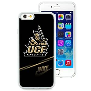 Fashionable And Unique Designed With NCAA American Athletic Conference AAC Football UCF Knights 1 Protective Cell Phone Hardshell Cover Case For iPhone 6 4.7 Inch TPU Phone Case White