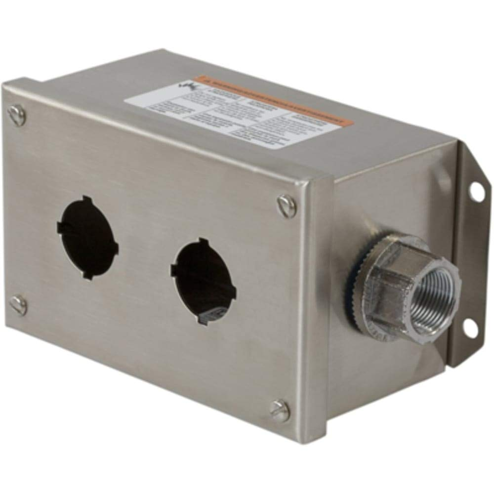 Pushbutton Enclosure; 2 Hole; 30mm; Stainless Steel; NEMA13; IP65; Harmony Series
