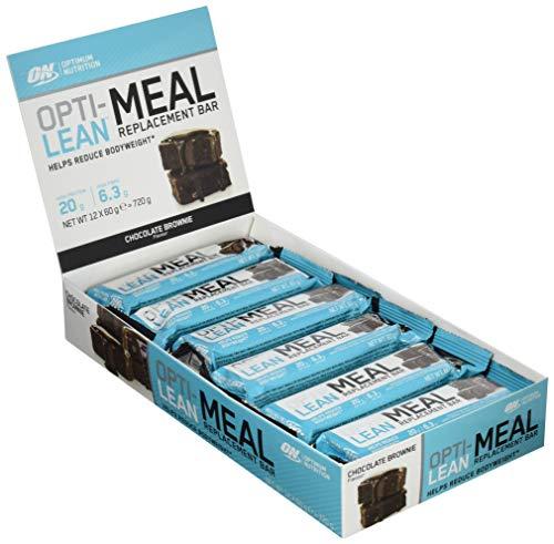 Optimum Nutrition Opti-Lean- Mahlzeitersatz Eiweiß-Riegel (mit Vitamin A, C, D und balaststoffreich, Fettarmer Protein Bar von ON) Chocolate Brownie, 1er Pack (12 x 60g)