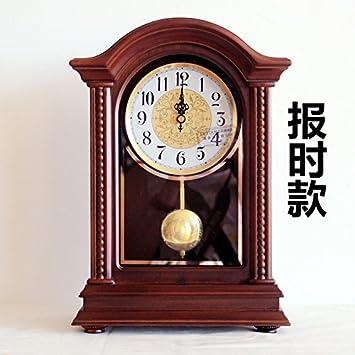y-hui sólida base de madera reloj de pared grande sala de estar relojes reloj Mute reloj de mesa tiempo cuarzo péndulo parte, 25,4 cm, 225 informe.