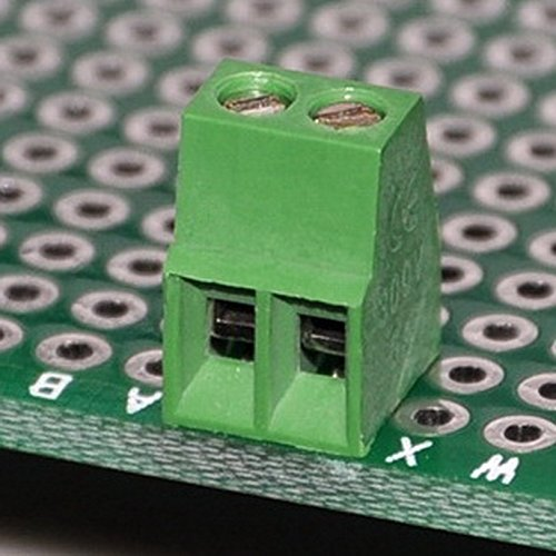 Electronics-Salon 10 PCS 2 Poles 2.54mm//0.1 PCB Universal Screw Terminal Block