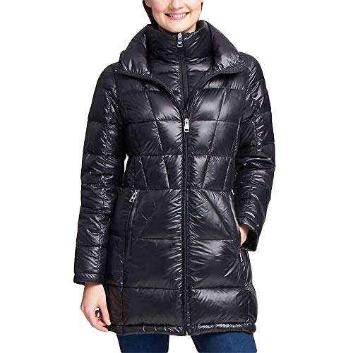Andrew Marc Women's Packable Down Jacket, Black, Large