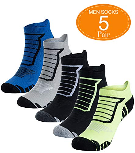 Low Cut Performance Socks Mens (No Show Running Socks for Men 5 Pack Athletic Low Cut Performance Socks)