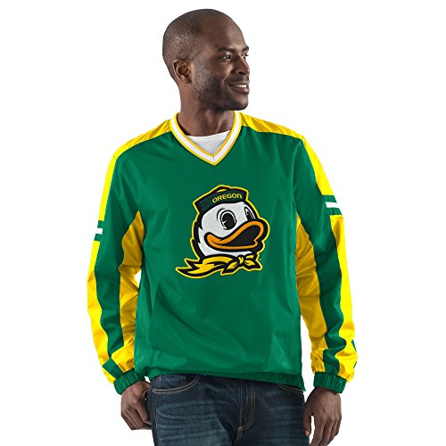 G-III Sports NCAA Oregon Ducks Men's Draft Pick V-Neck Pullover Jacket, X-Large, Green