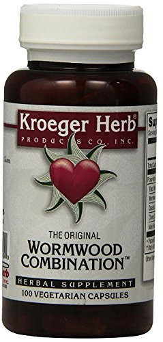 (Kroeger Herb Wormwood Combination Vegetarian Capsules, 100 Count)